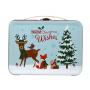Christmas portable lunch tin box