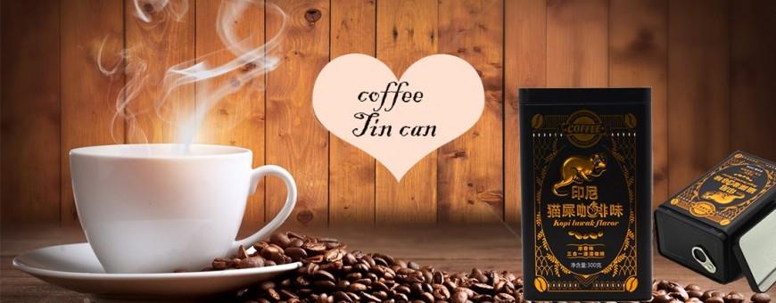 Servicio de diseño gratuito fabricante de cajas de lata de café