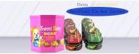 Caja de lata poligonal personalizada al por mayor