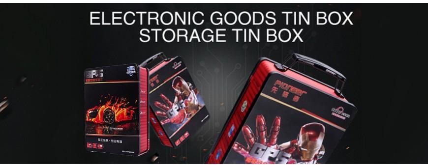 Pembungkusan kotak timah produk elektronik secara borong
