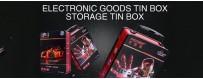 Embalaje de caja de lata de productos electrónicos al por mayor