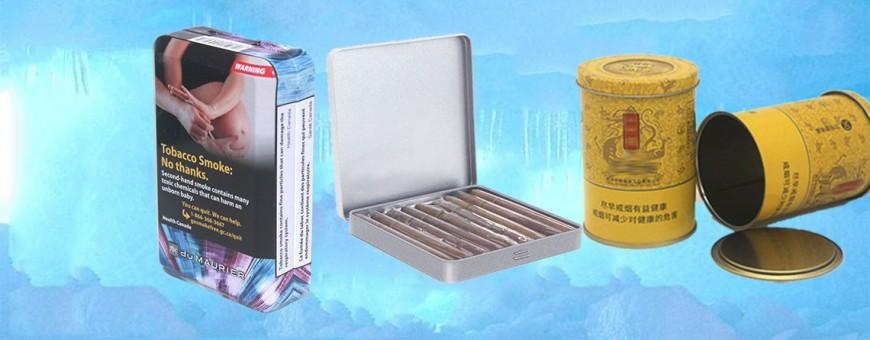Kotak timah tembakau yang diperibadikan khas