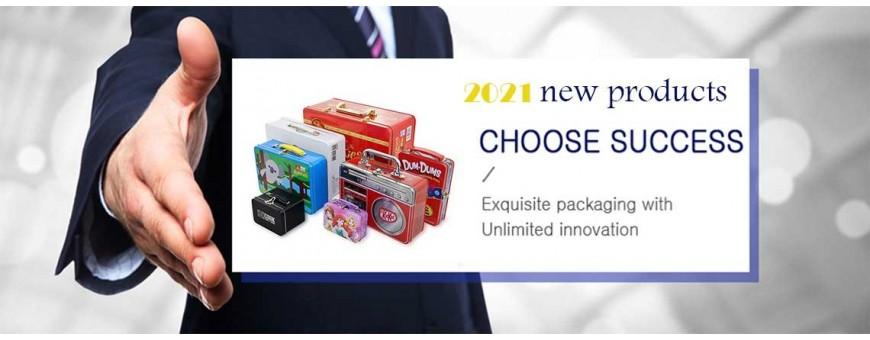 Caja de lata al por mayor o caja de almacenamiento de metal portátil personalizada