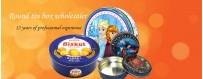 Personalice la caja de hojalata redonda para sus productos