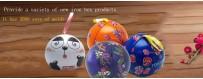 Caja de lata esférica con forma de bola especial
