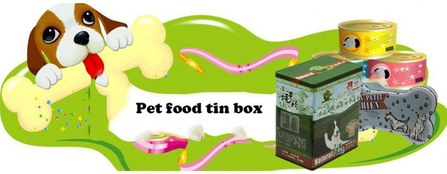 Precio de fábrica directo de la caja de la lata del animal doméstico de la impresión del logotipo