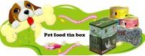Logo Print Pet Tin Box Prix usine direct