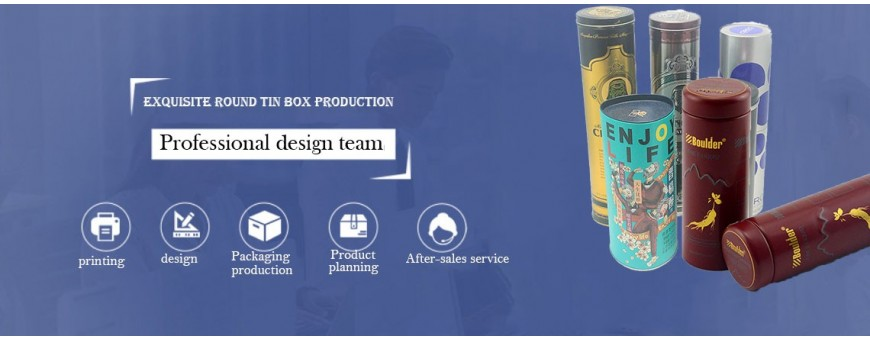 Get factory price of cylindrical tin box