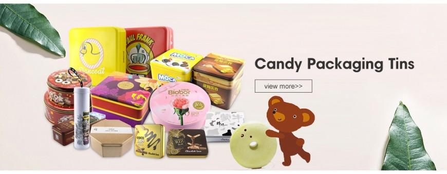 Melhor caixa de lata de doces personalizada no atacado