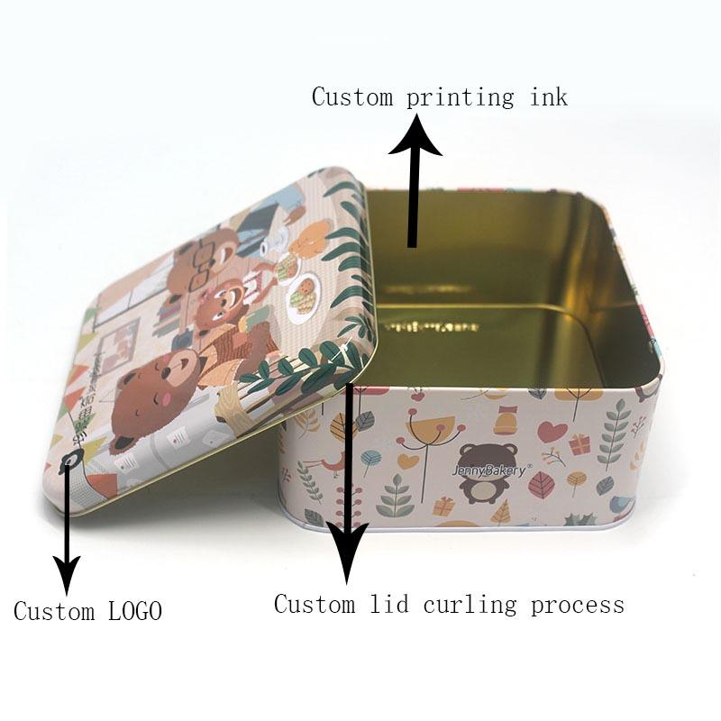 Customized cake metal packaging tin box