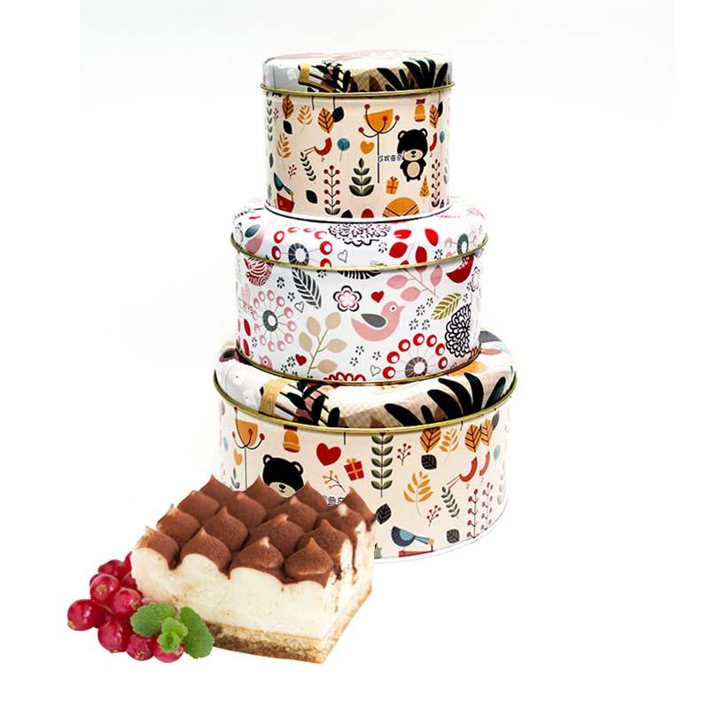High-quality cake metal packaging tin box series