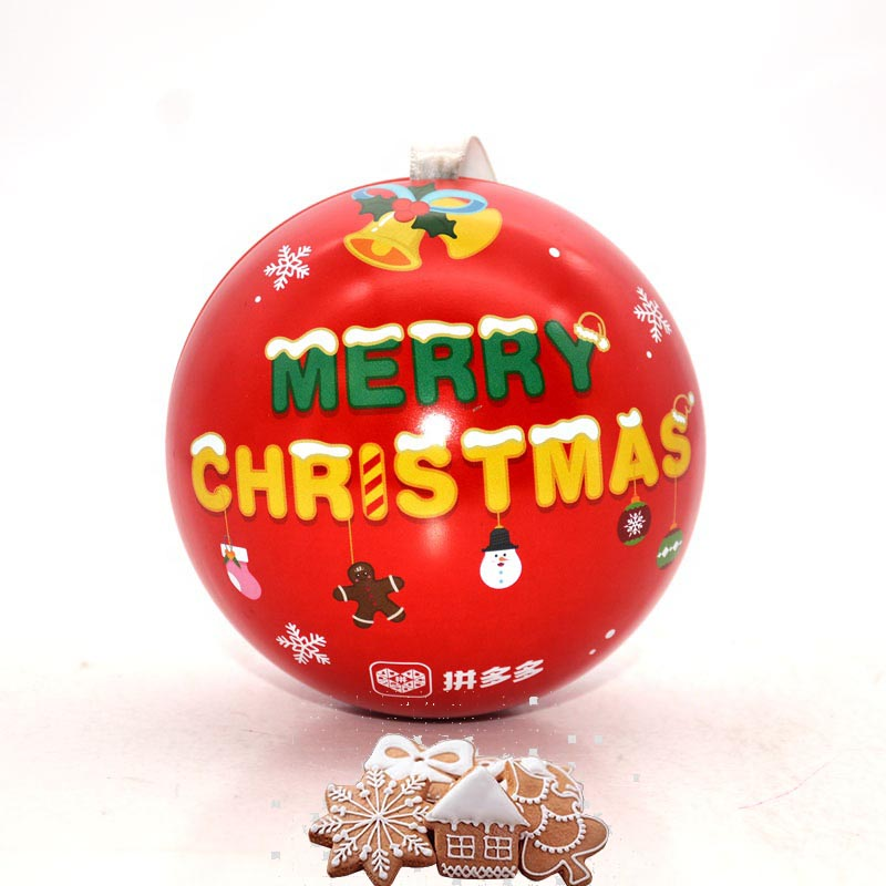 Custom Christmas Ball Cookies Gift Tin Box
