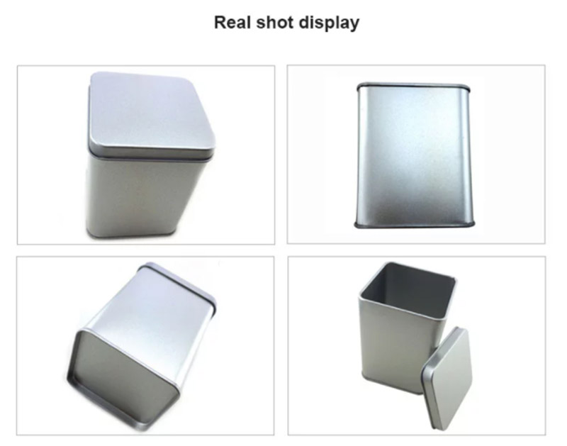 Wholesale silver square tin can series