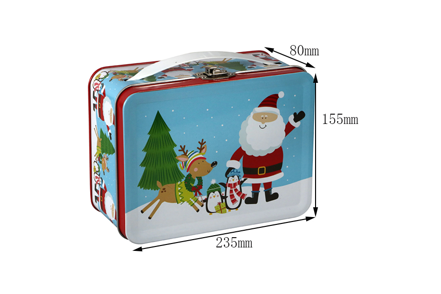 Custom Christmas lunch tin box