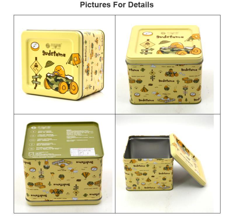 Rectangular christmas gift tin box