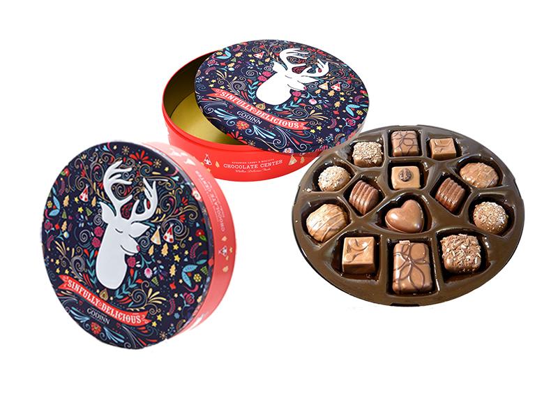 Where to buy Christmas chocolate gift tins