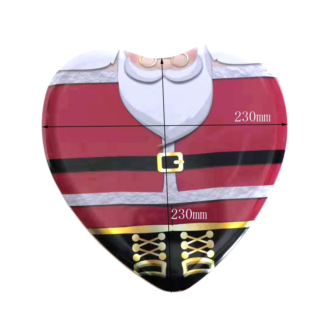 Christmas heart shaped tin box manufacturer