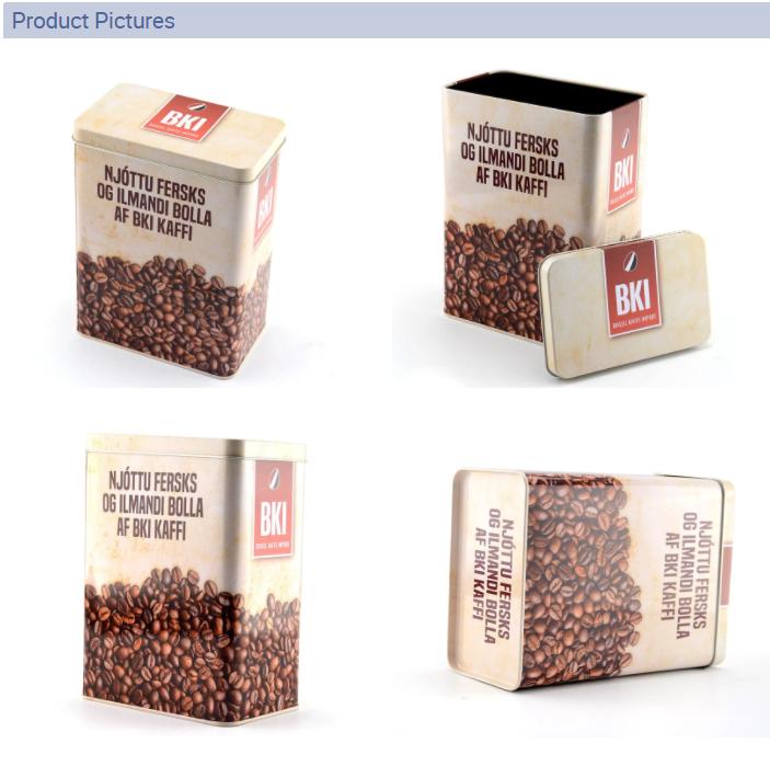 Rectangular coffee tin box series