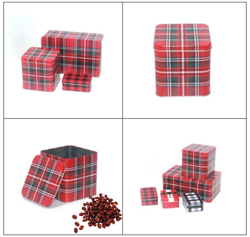 Wholesale gift coffee tin box set