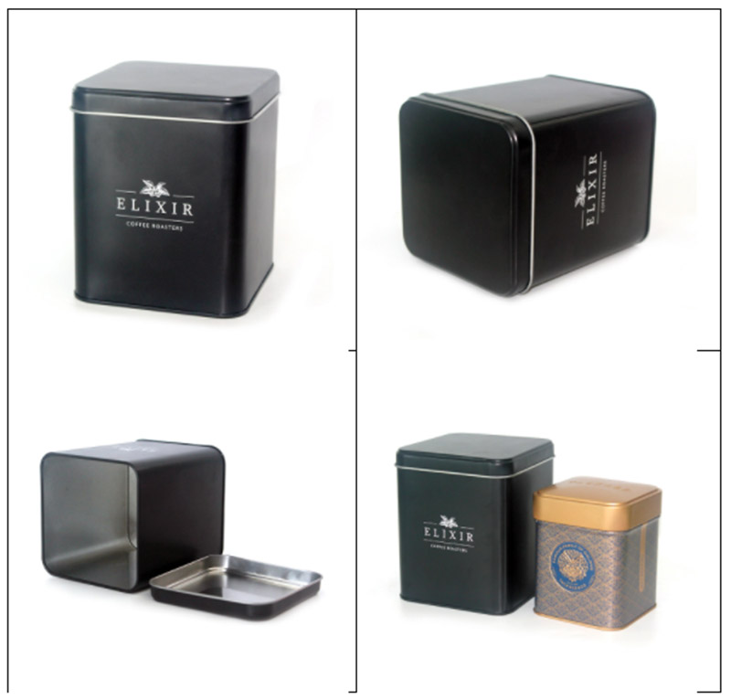 50-200g square coffee can series
