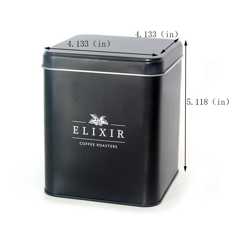 Custom 200g square coffee can size