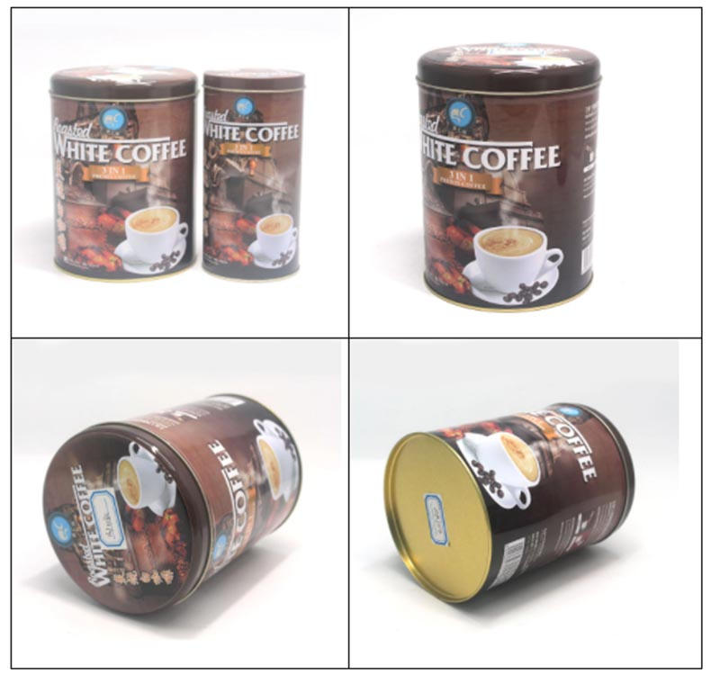 High quality round coffee tin can series