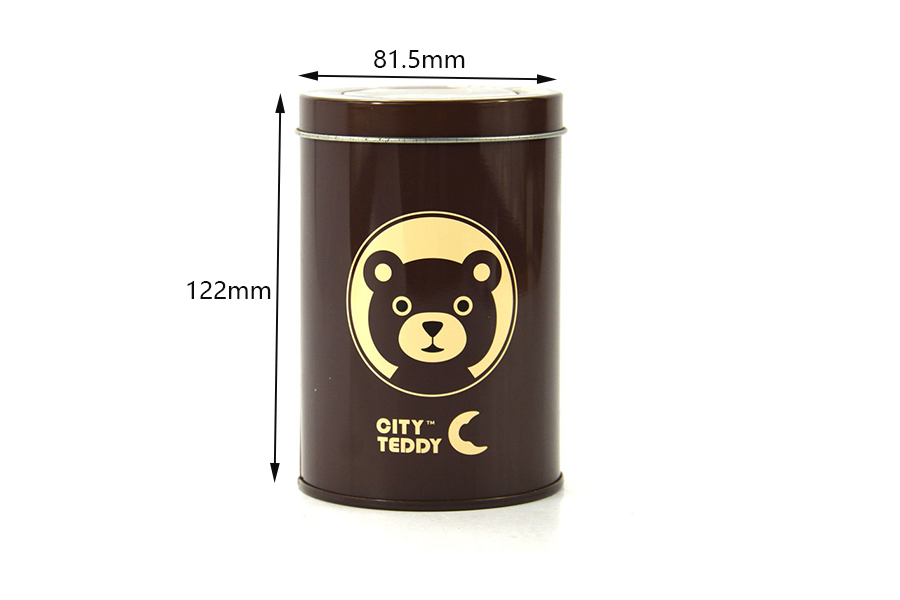 Wholesale cylindrical coffee tins