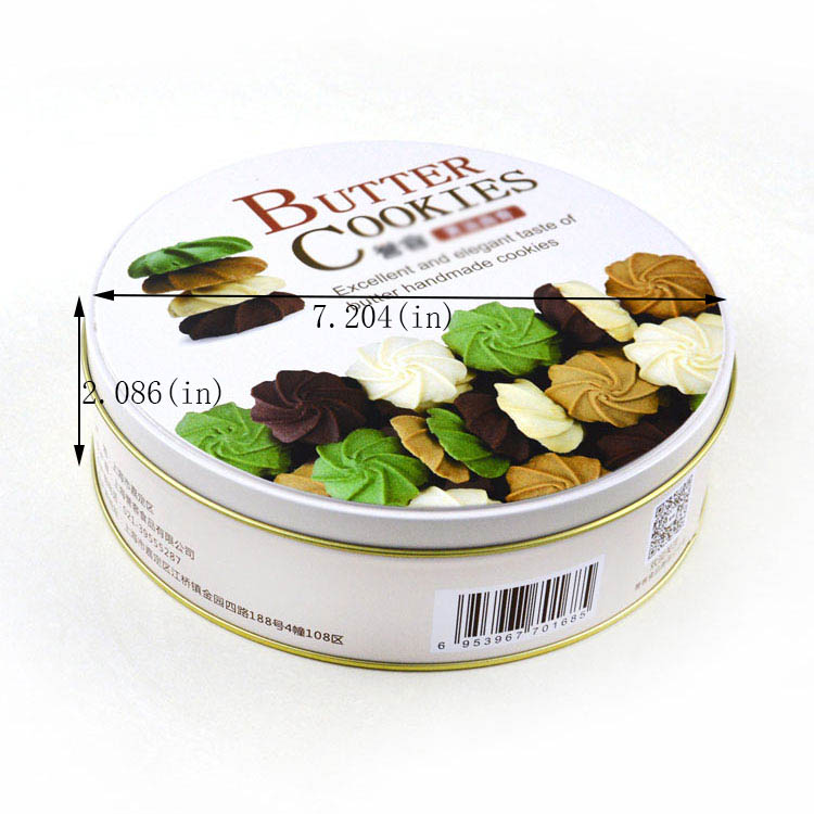 Custom round welcome cookie tin box size