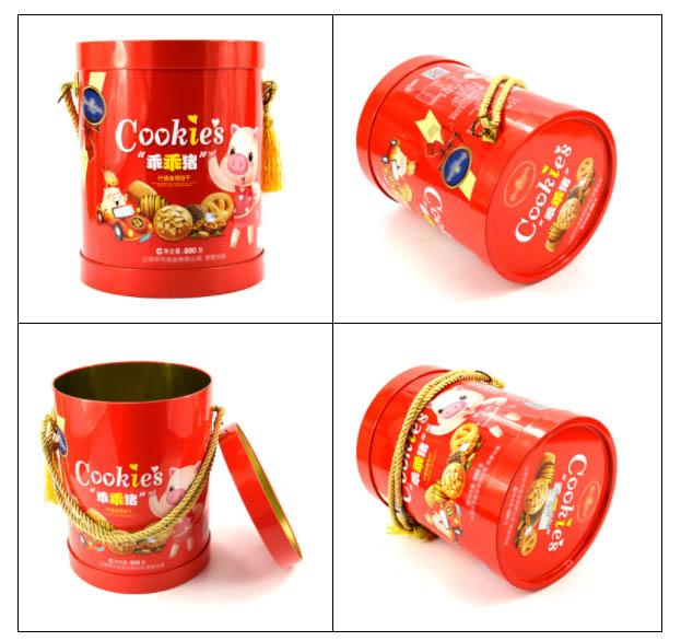 Printing Biscuit Packaging Round Tin Box Series