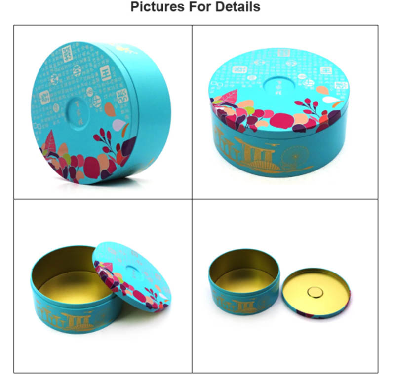Printing round biscuit tin can series