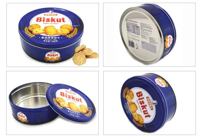 Round Butter Cookies Tin Can Series
