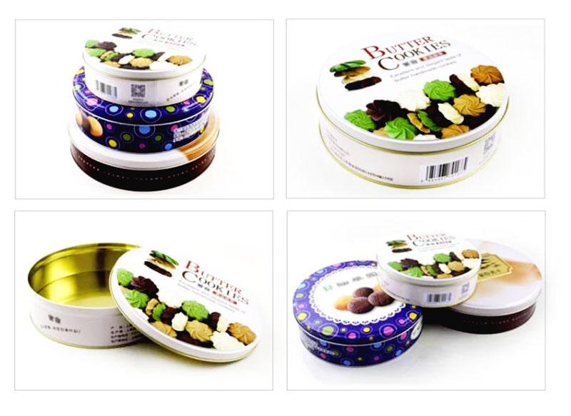 Round welcome cookie tin box series
