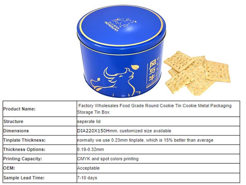 custom blue tin can cookies