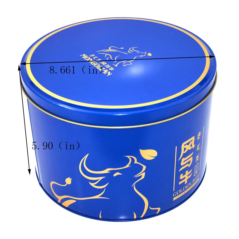 supplier blue tin can cookies