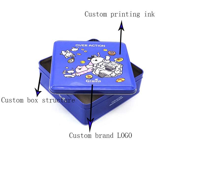 Custom cookie gift tin box