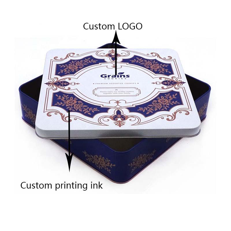 Custom printed cookie tin box