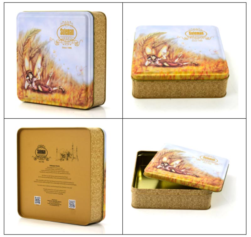 Customized Oatmeal Biscuit Tin Box Series