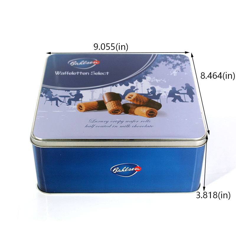 Customized butter biscuit tin box size
