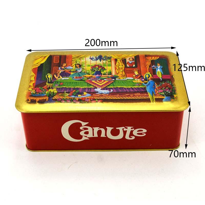 Customized rectangular 160g biscuit tin box size