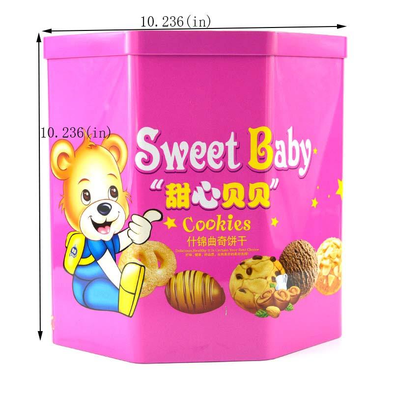 Caixa de lata de biscoitos