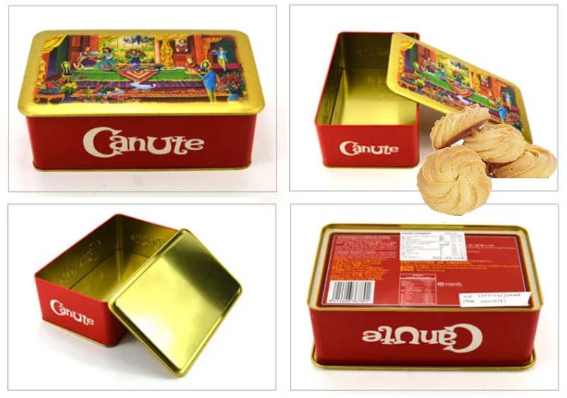 Rectangular 160g biscuit tin box series