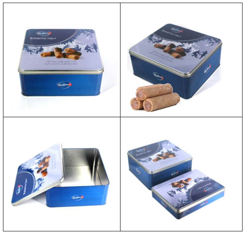 Wholesale butter biscuit tin box set