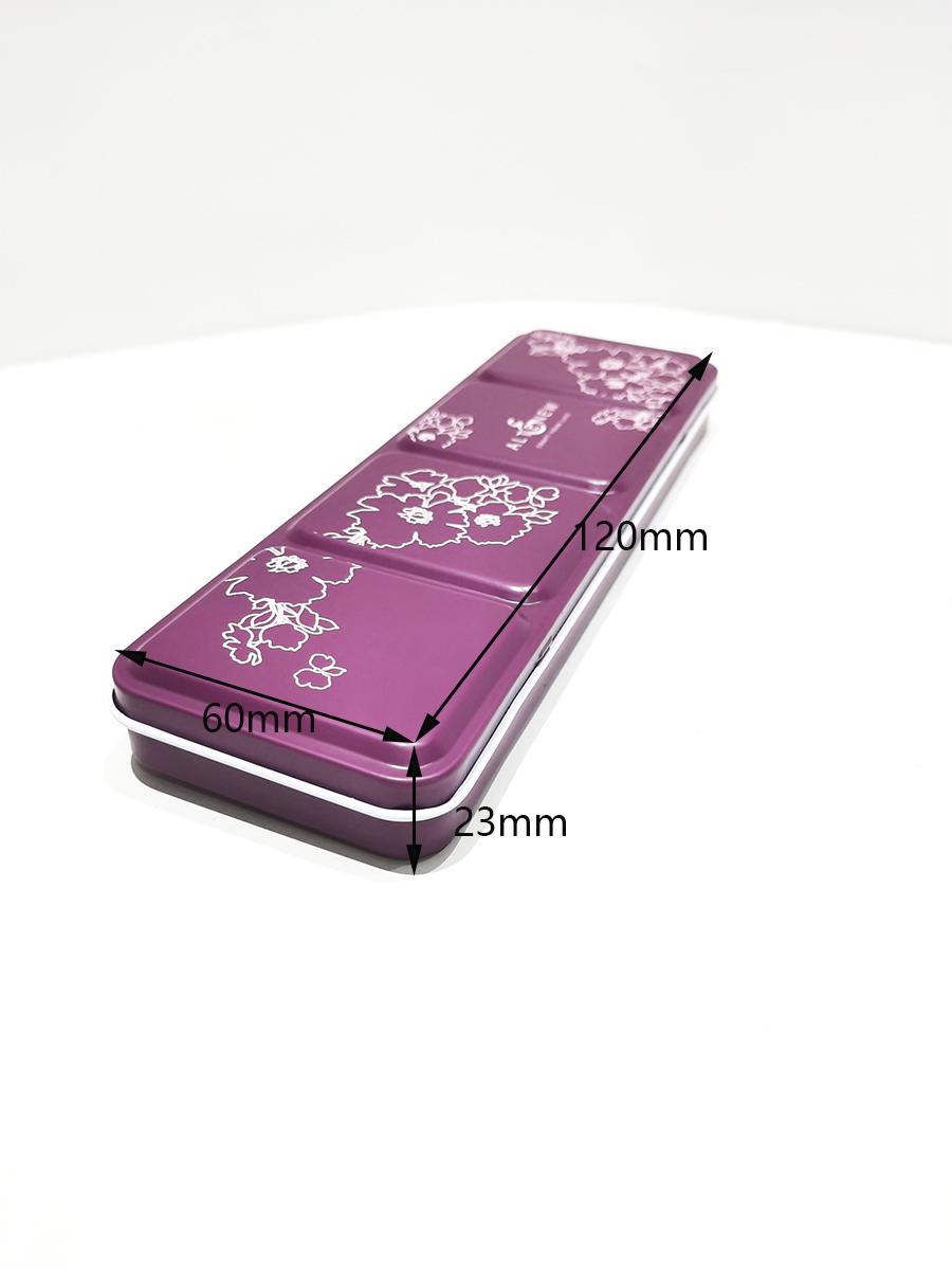 High-quality portable 36-color palette tin box series