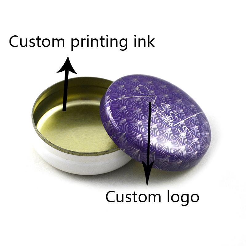 Custom ointment round tin box