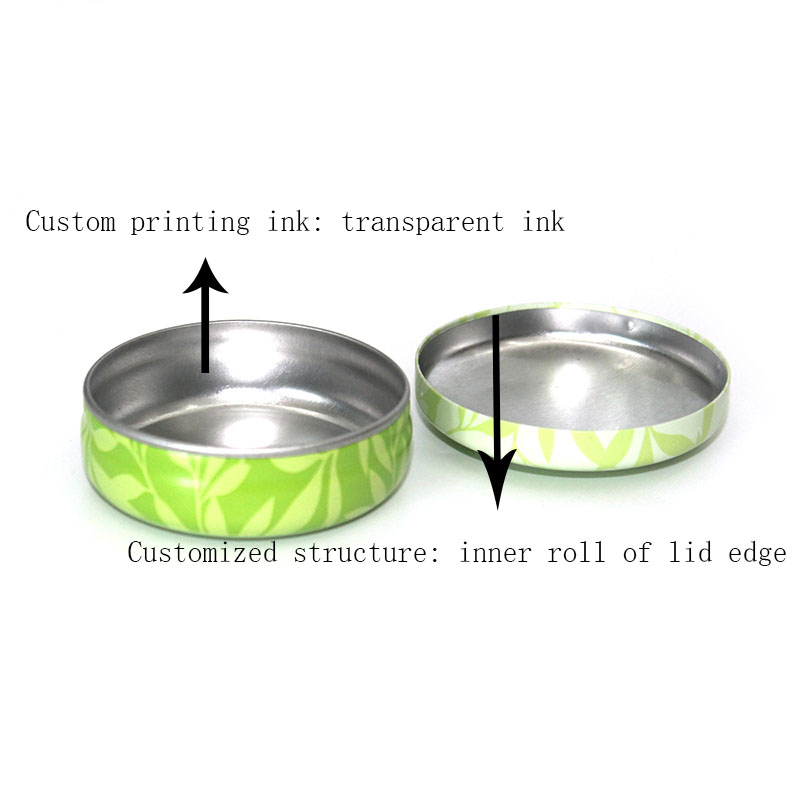 Custom small round balms tin box