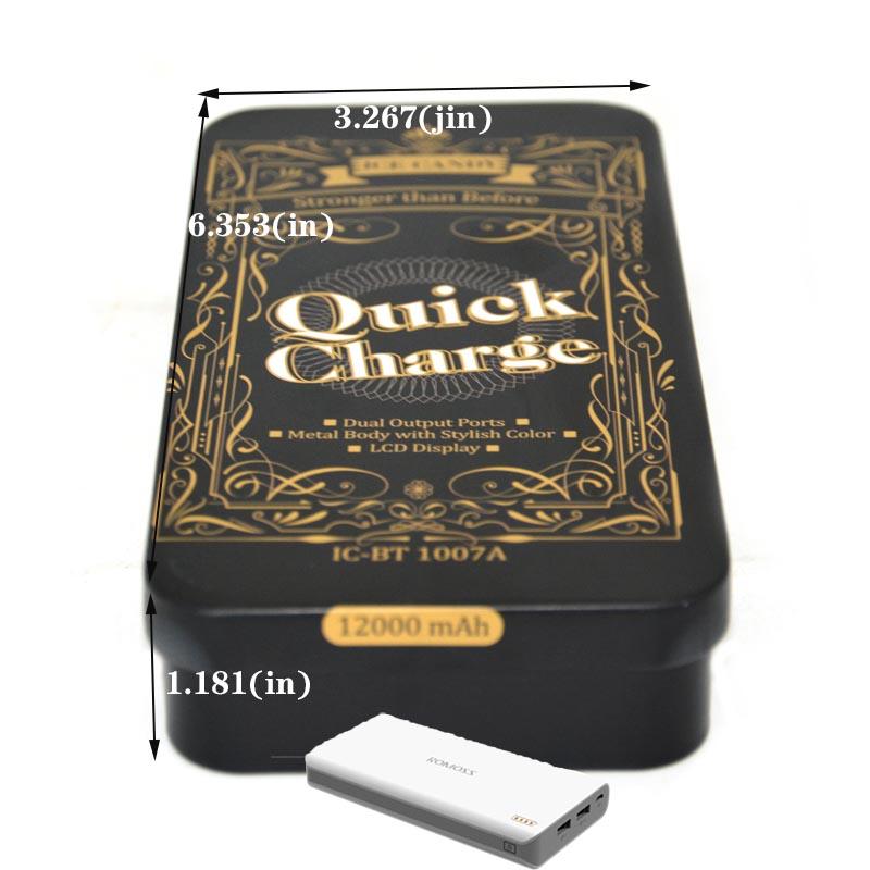Custom rectangular power tin box size