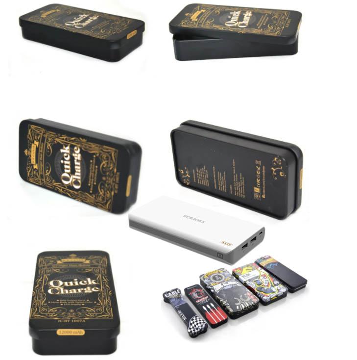 Fashion rectangular power tin box series