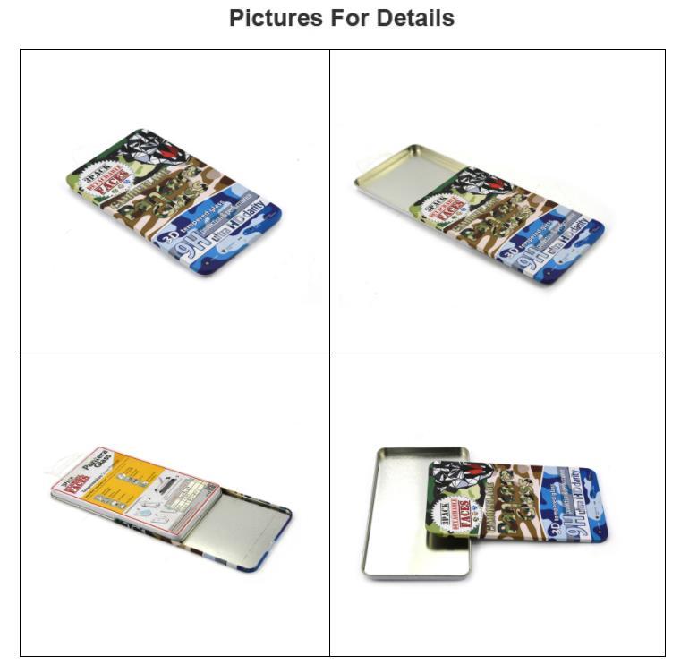 Sliding cover mobile phone accessories storage tin box