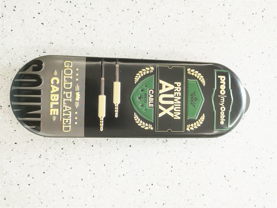 High quality earphone cable tin box