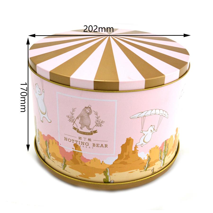 Big round melody music tin box